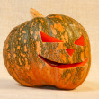 The big cheerful halloween pumpkin — Stock Photo