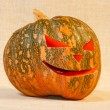 Stock Photo: The big cheerful halloween pumpkin
