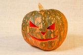 Velké veselý halloween dýně — Stock fotografie