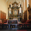 Old catholic church interior in Carpathians — Stock Photo