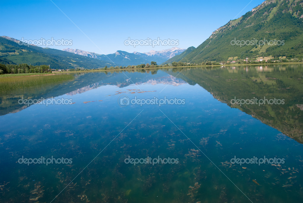 View from Plav Lake, Montenegro — Stock Photo #5959873