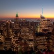 New York at sunset - Stock Photo