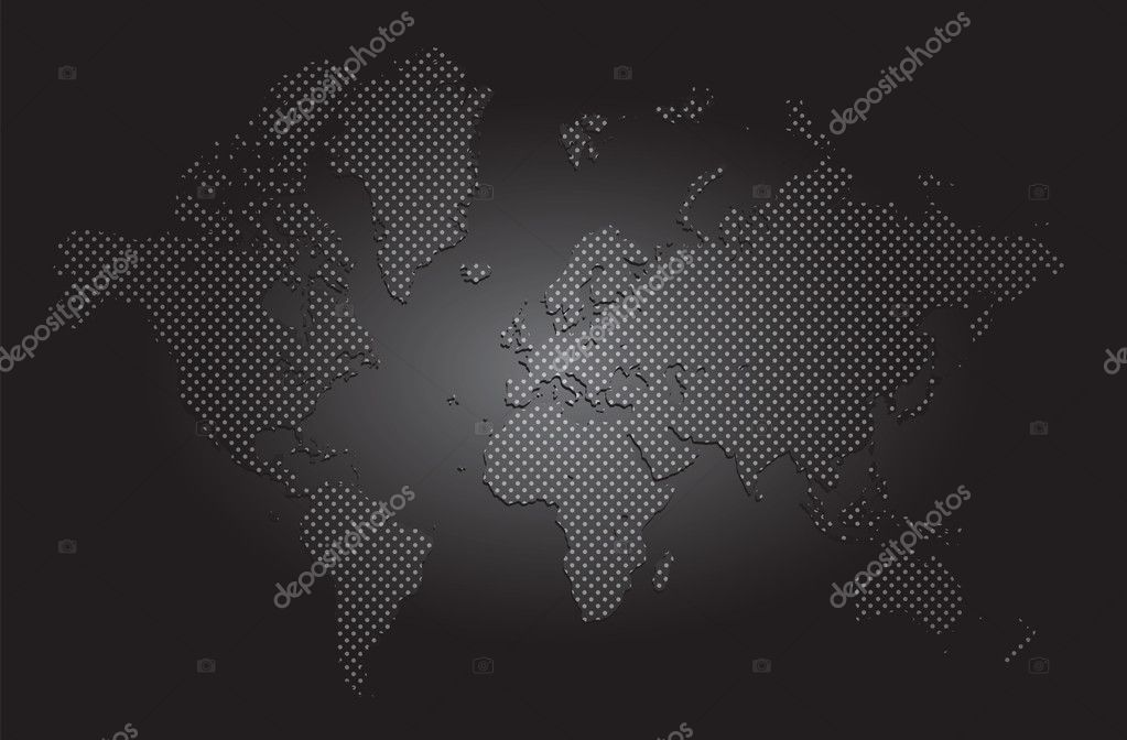 DOTTED WORLD MAP — Stock Vector #5609351