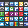 Social media icons — Vettoriali Stock