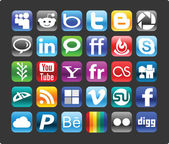 Social media iconen — Stockvector