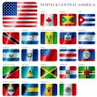 Flags North and Central America — Stock Vector