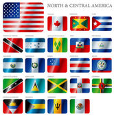 Flags North and Central America — Vecteur