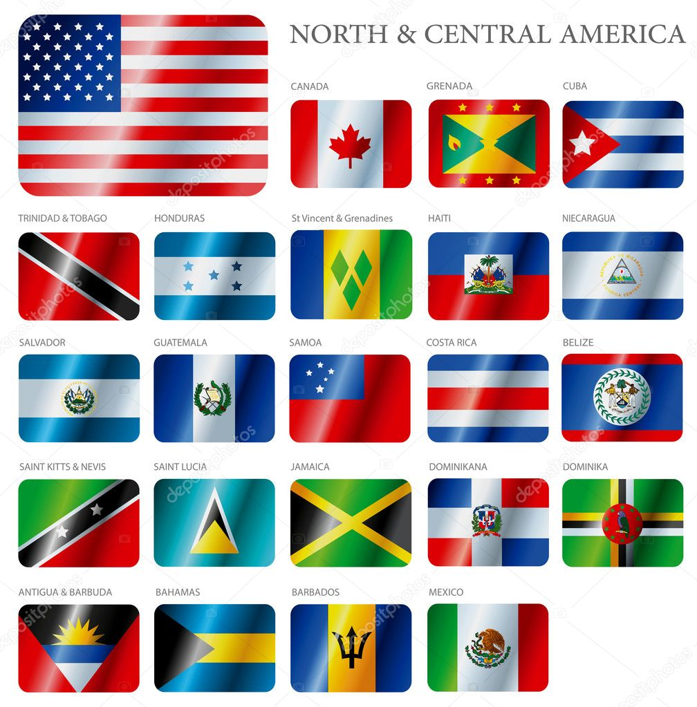 A set of flags of South America isolated on a background. — Stock Vector #5941874