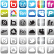 Social media icons — Grafika wektorowa