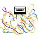 Colorful Crazy Cassette Tape Illustration — Stock Vector