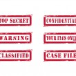Grungy Top Secret Stamps - Stock Vector