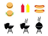 BBQ Icons — Stock Vector