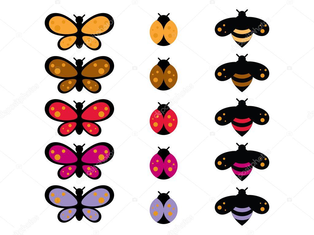 Cartoon bug collection stock illustration
