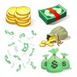 Money And Coins - Stock Vector