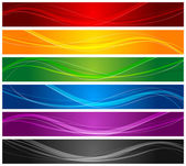 Colorful Wavy Line Banners — Stock Vector