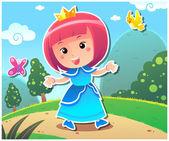 Princess Lily — Stock Vector