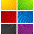 Colorful Wavy Line Backgrounds - Stock Vector