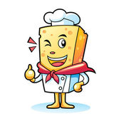 Chef Cheese — Stock Vector