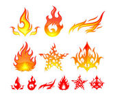 Fire Elements — Stock Vector