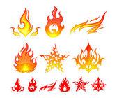 Fire Elements — Stock Vector