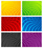 Colorful Wavy Line Backgrounds — Stock Vector