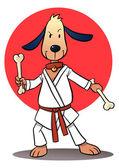 Karate Dog — Stock Vector