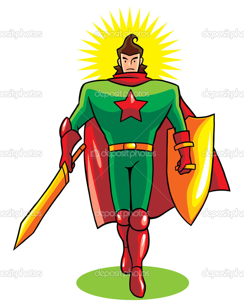 Hero of immunity. — Stock Vector #5793693