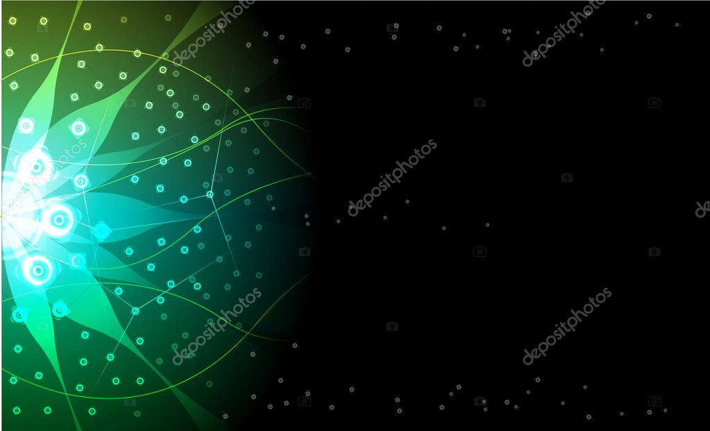 Abstract green background. Vector  Stock Vector #5733879