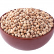White pepper in a ceramic bowl — Stock Photo #5652122