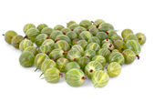 A heap of gooseberry isolated on white — Stock Photo