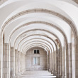 Stock Photo: Arched hall - architectural detail of Benedictine Abbey
