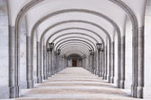 Architectural detail of The Benedictine Abbey — Stock Photo