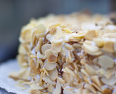 Detail of the almond cake — Stock Photo