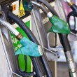 Gas pumps on the petrol stop. - Stock Photo