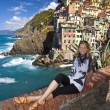 Riomaggiore fisherman village in Cinque Terre, Italy — Stock Photo