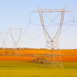 High voltage lines. - Stock Photo