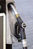 Black diesel pump nozzle — Stock Photo