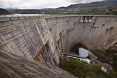 Dam of the hydroelectric power station — Stock Photo