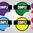 Vector de stock : Title stickers