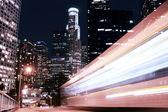Traffic through at night — Stock Photo