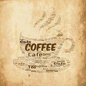 Vector antique coffee background — Stock Vector