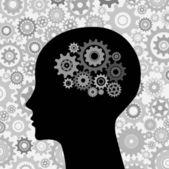 Vector intelligence brain — Stock Vector
