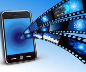 Vector smartphone and film — Stock Vector