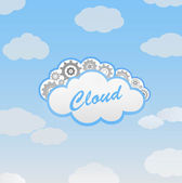 Vector abstract cloud computing background — Stock Vector