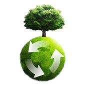 Recycling of green planet — Stock Photo