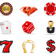 Stockvektor : Casino and gambling icons 1