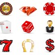 ストックベクタ: Casino and gambling icons 1