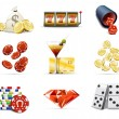 Casino and gambling icons 2 — Stockvectorbeeld
