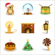 Christmas icons, part 3 — Stock Vector