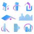 Real estate icons — Vektorgrafik